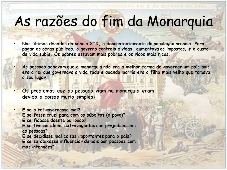 As razões do fim da Monarquia