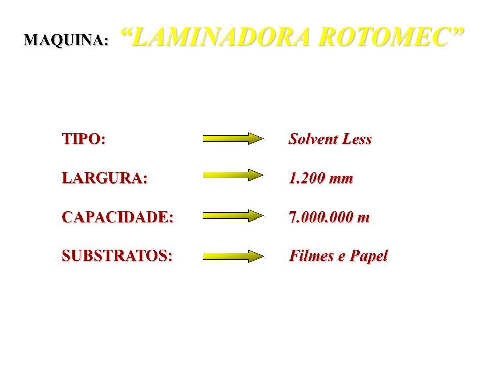 MAQUINA: LAMINADORA ROTOMEC
