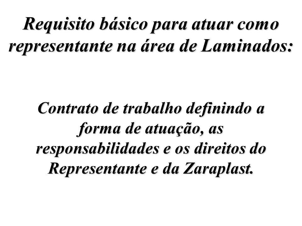 Requisito básico para atuar como representante na área de Laminados: