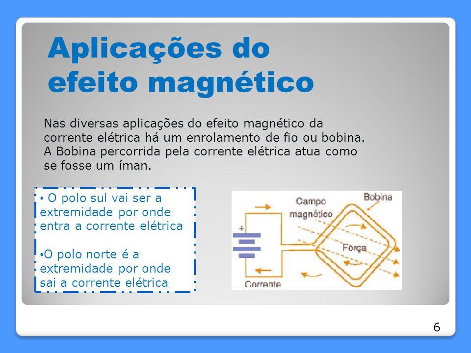 Aplicações do efeito magnético