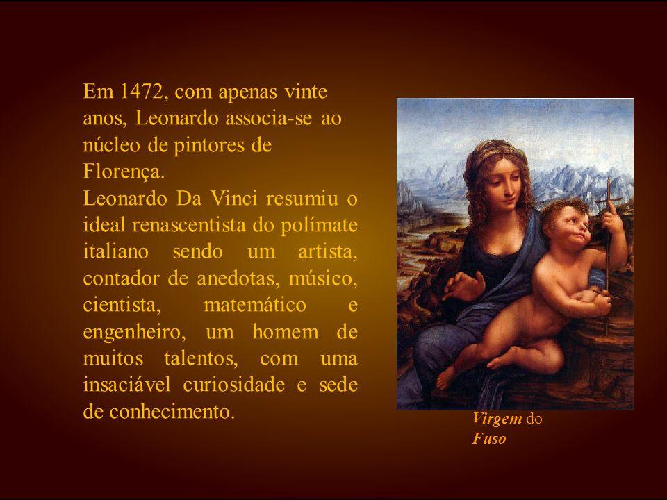 Em 1472, com apenas vinte anos, Leonardo associa-se ao núcleo de pintores de Florença.