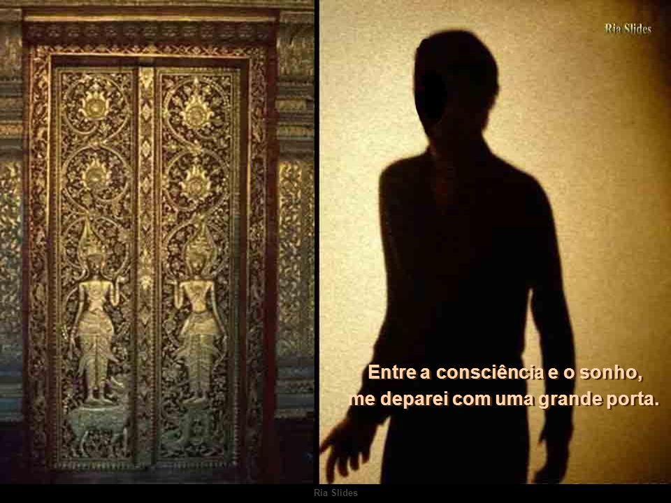 Entre a consciência e o sonho, me deparei com uma grande porta.