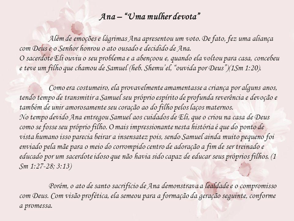 Ana – Uma mulher devota