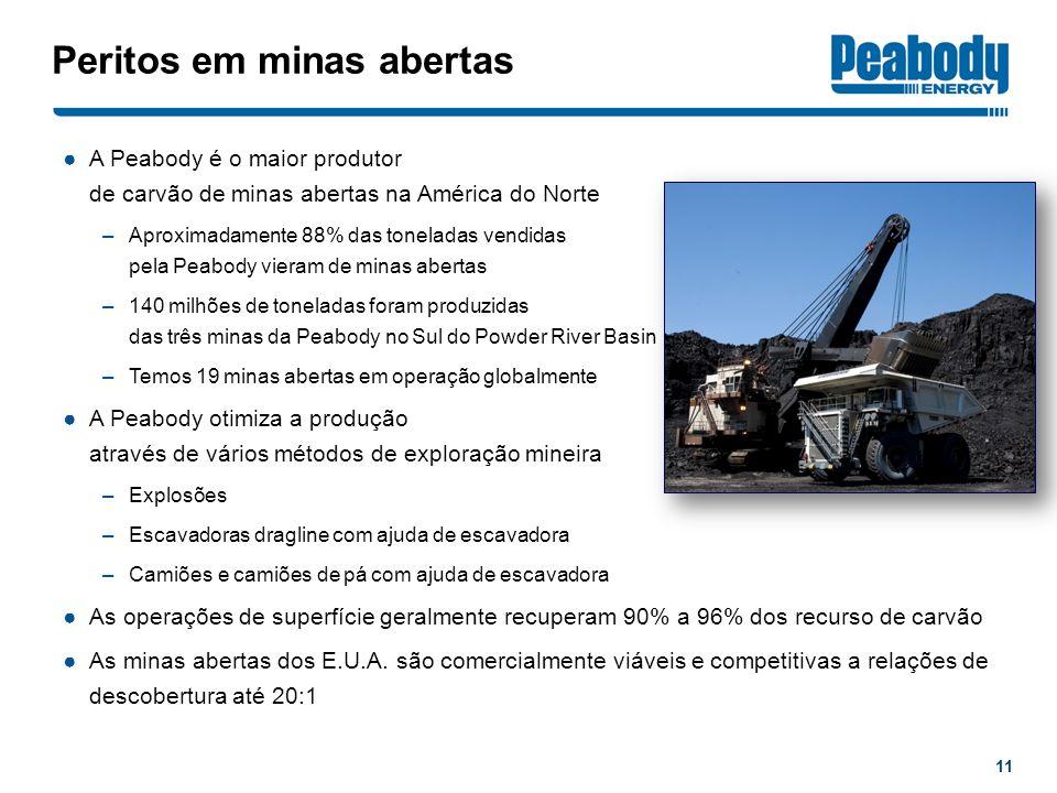 Peritos em minas abertas