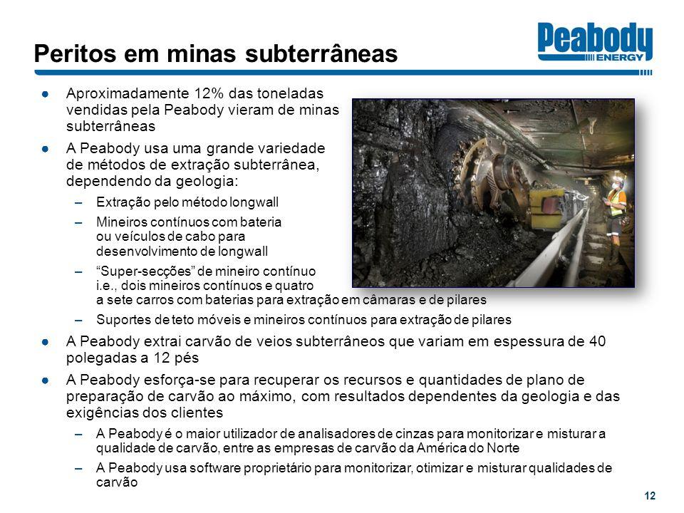 Peritos em minas subterrâneas