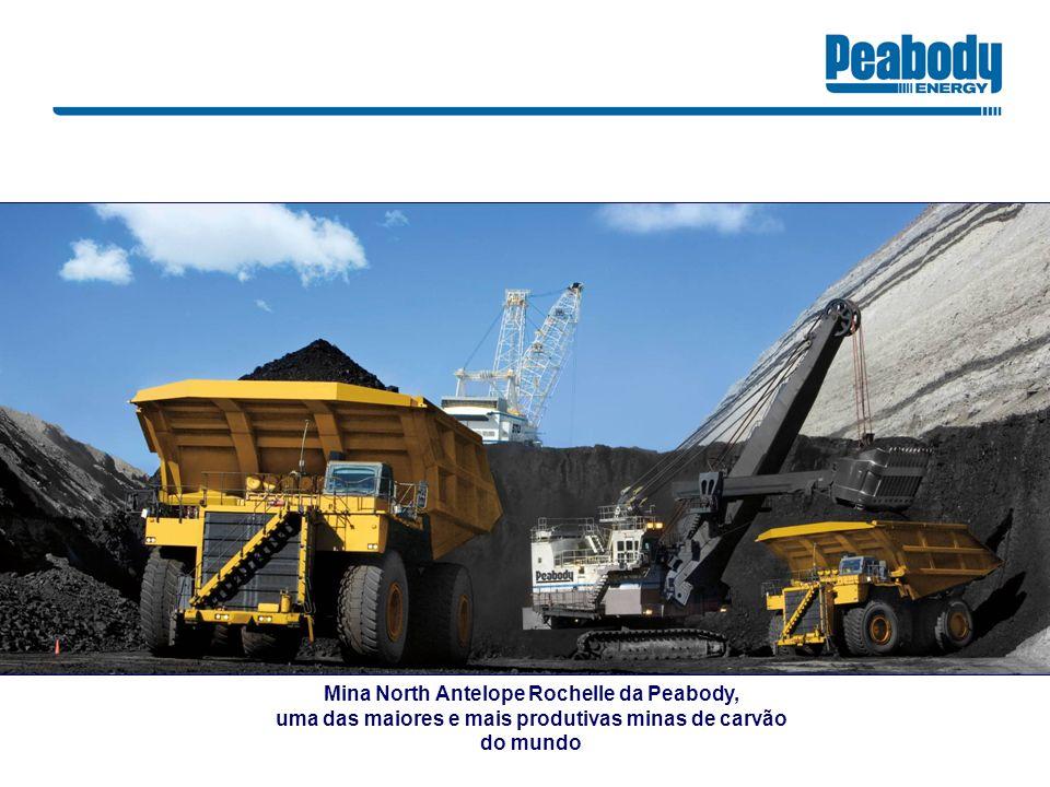Mina North Antelope Rochelle da Peabody, uma das maiores e mais produtivas minas de carvão do mundo
