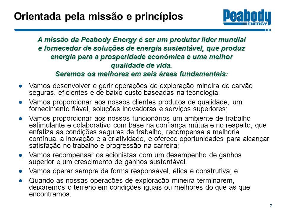 Orientada pela missão e princípios