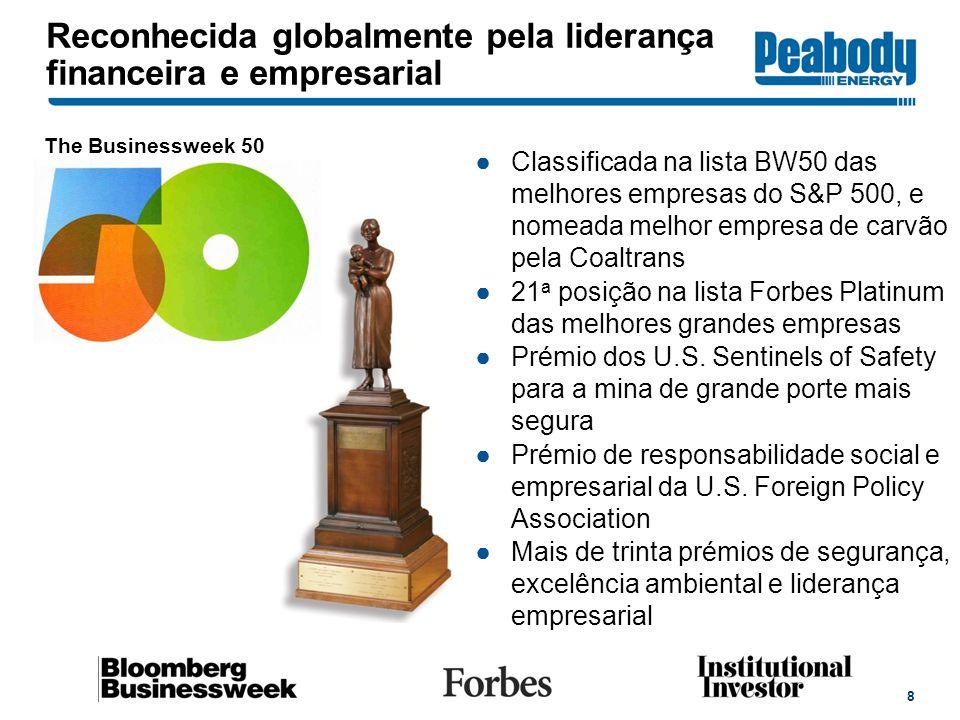 Reconhecida globalmente pela liderança financeira e empresarial