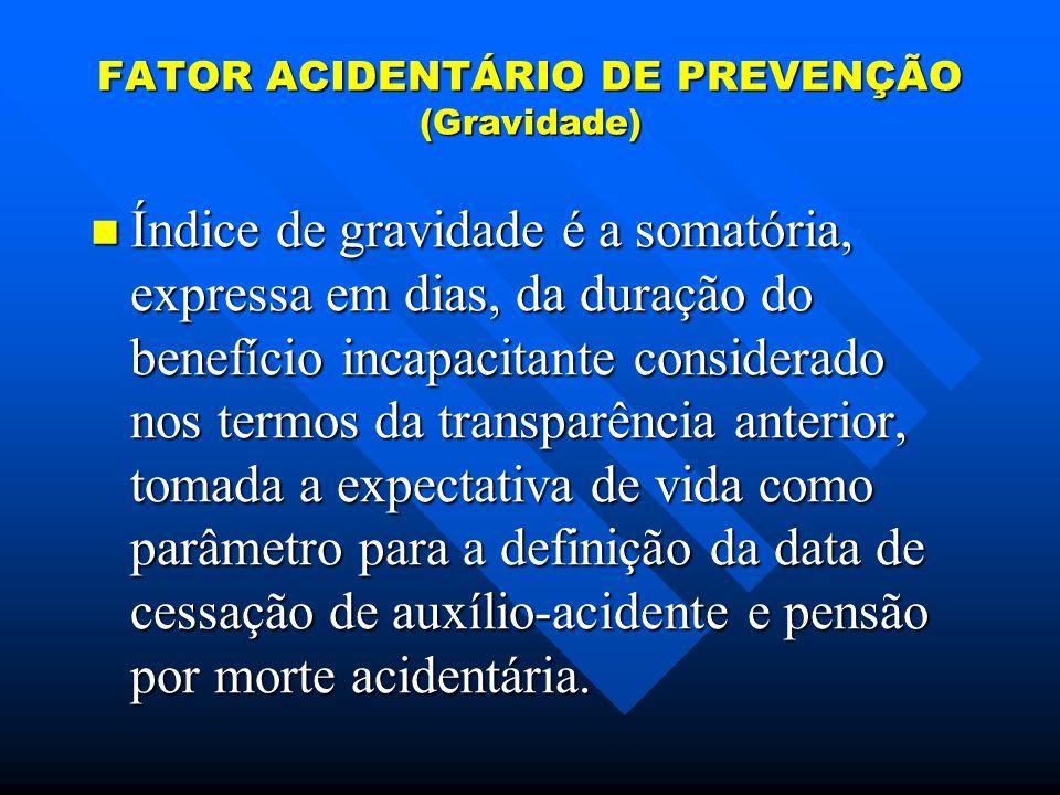 FATOR ACIDENTÁRIO DE PREVENÇÃO (Gravidade)