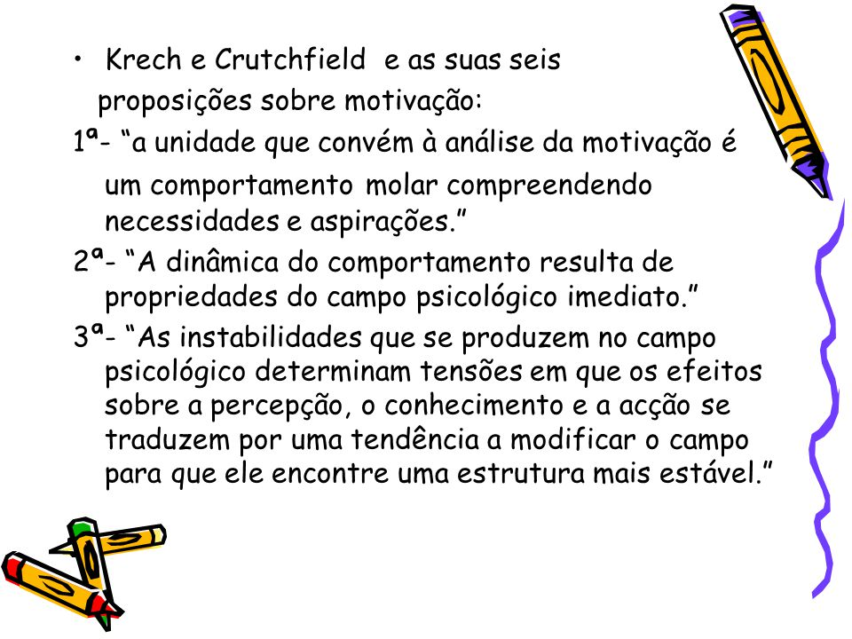 Krech e Crutchfield e as suas seis
