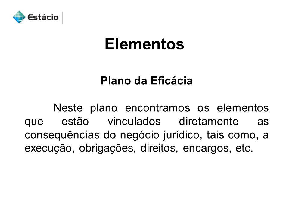 Elementos Plano da Eficácia