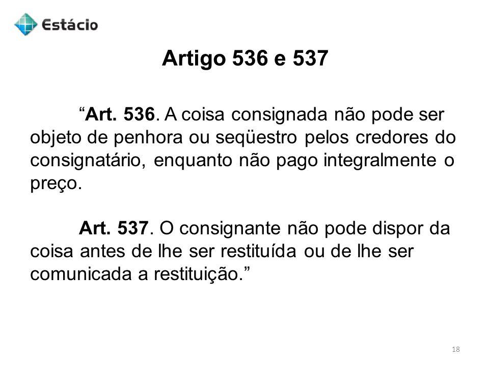 Artigo 536 e 537