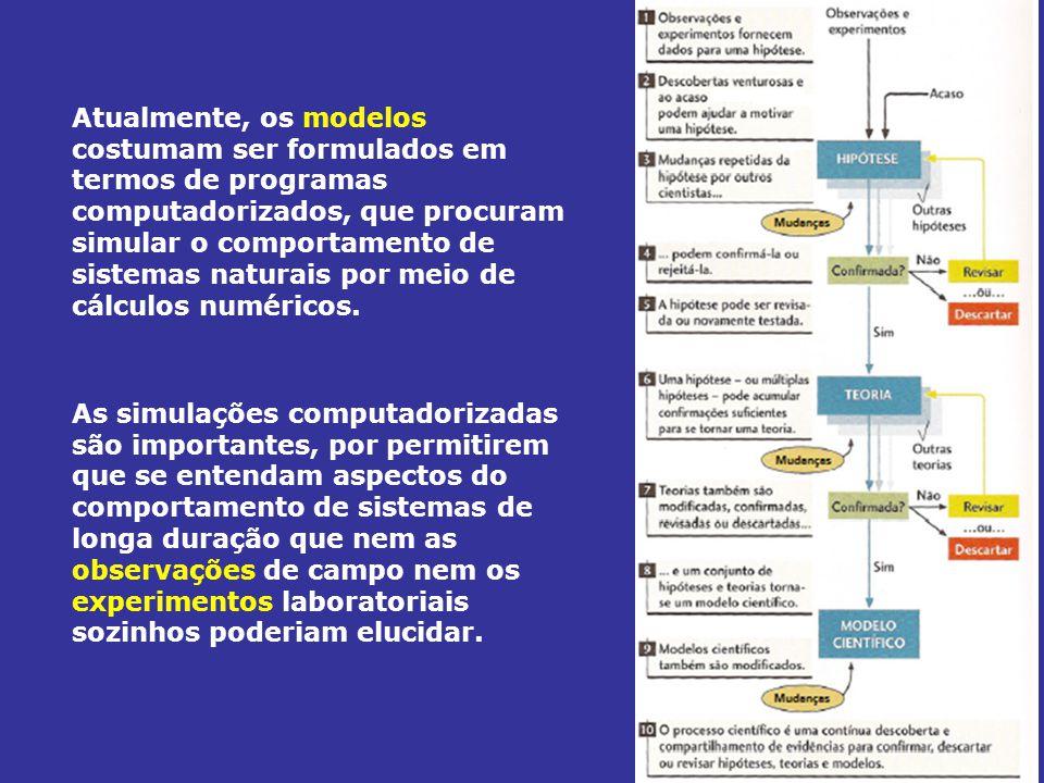 Atualmente, os modelos costumam ser formulados em termos de programas computadorizados, que procuram simular o comportamento de sistemas naturais por meio de cálculos numéricos.