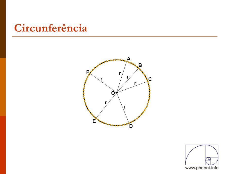 Circunferência A B P r r r C r O r r E D