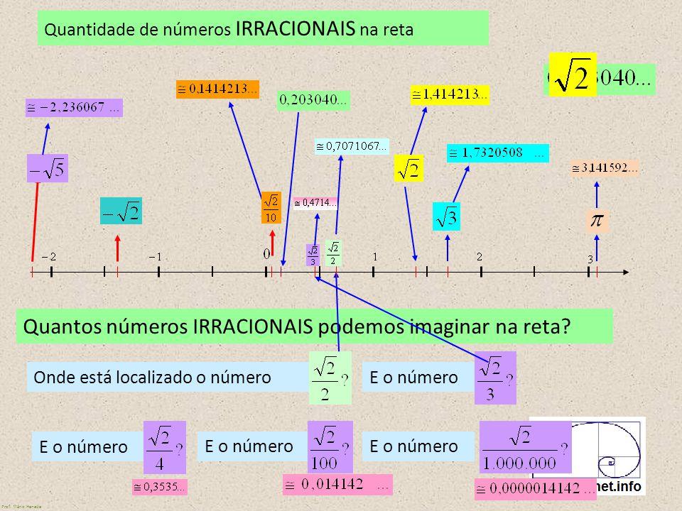 Quantos números IRRACIONAIS podemos imaginar na reta