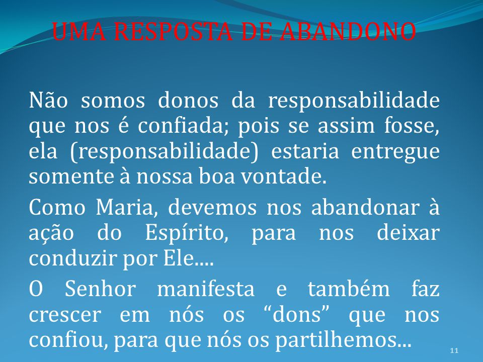 UMA RESPOSTA DE ABANDONO