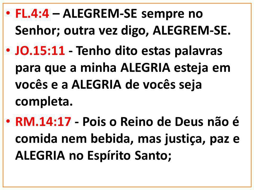 REFERENCIAS BÍBLICAS SOBRE A IMPORTÂNCIA DA ALEGRIA NA VIDA
