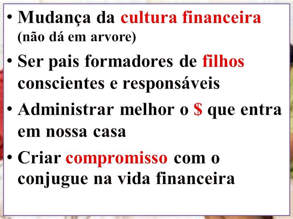 VAMOS ORAR... Mudança da cultura financeira (não dá em arvore)