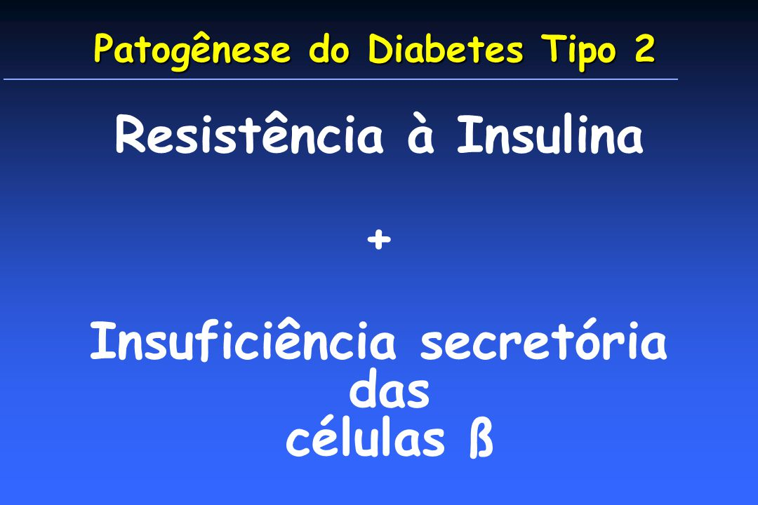 Patogênese do Diabetes Tipo 2