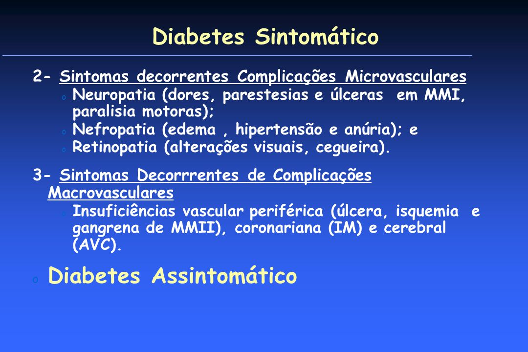Diabetes Assintomático