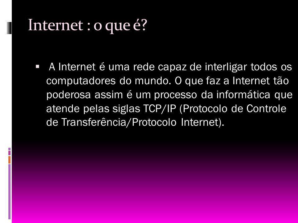 Internet : o que é