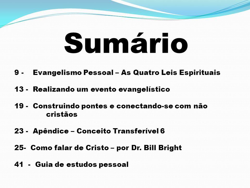 Sumário 9 - Evangelismo Pessoal – As Quatro Leis Espirituais