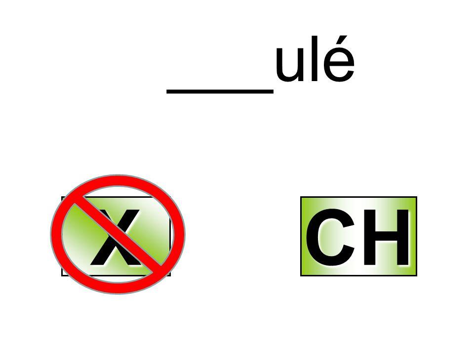 ___ulé X CH