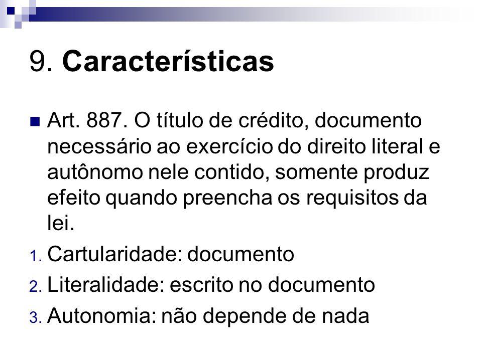 9. Características