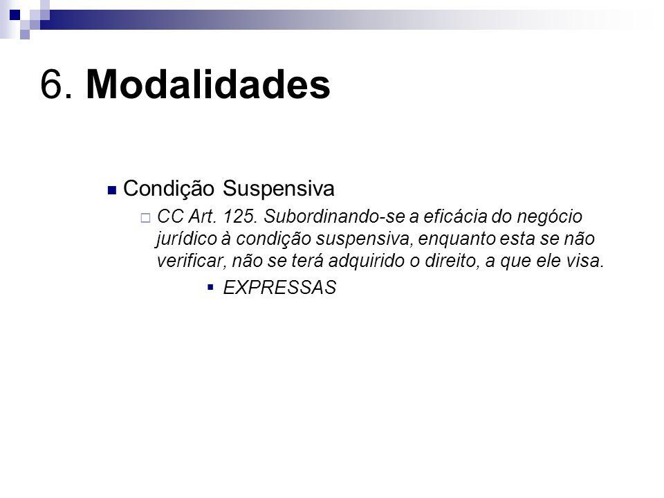 6. Modalidades Condição Suspensiva