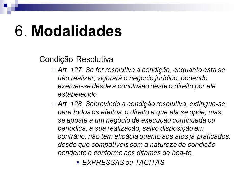6. Modalidades Condição Resolutiva