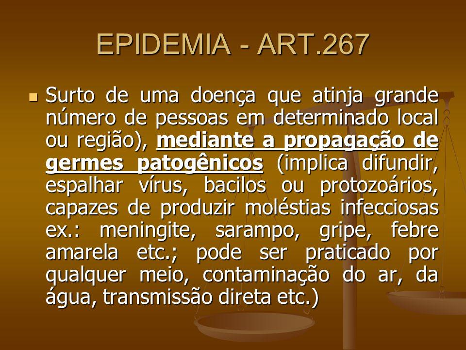 EPIDEMIA - ART.267