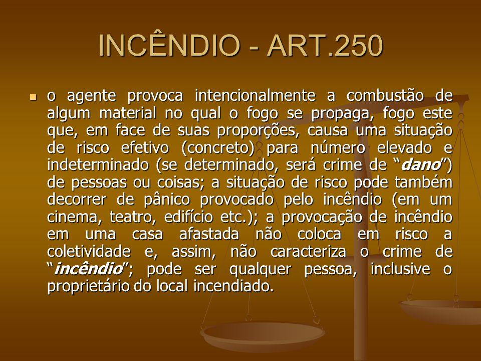 INCÊNDIO - ART.250