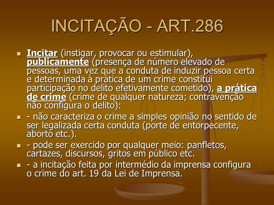 INCITAÇÃO - ART.286