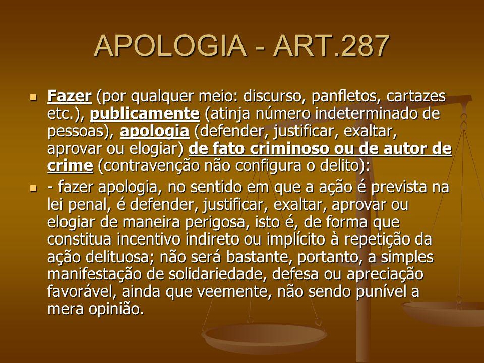 APOLOGIA - ART.287
