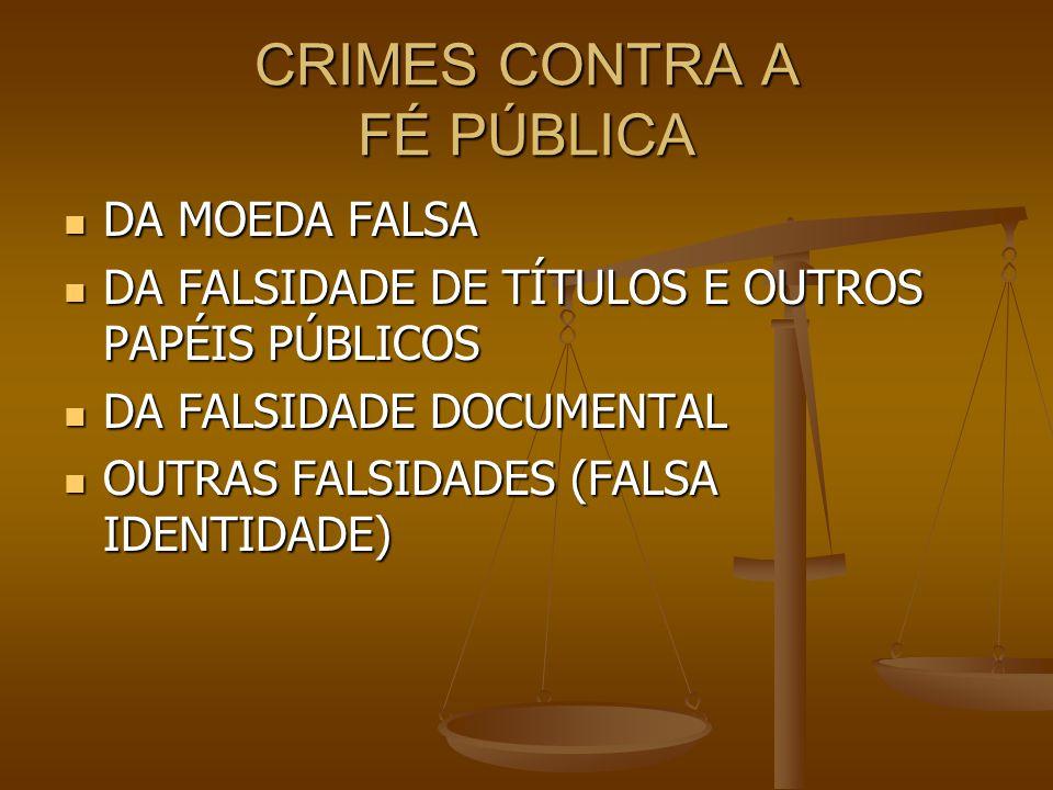CRIMES CONTRA A FÉ PÚBLICA