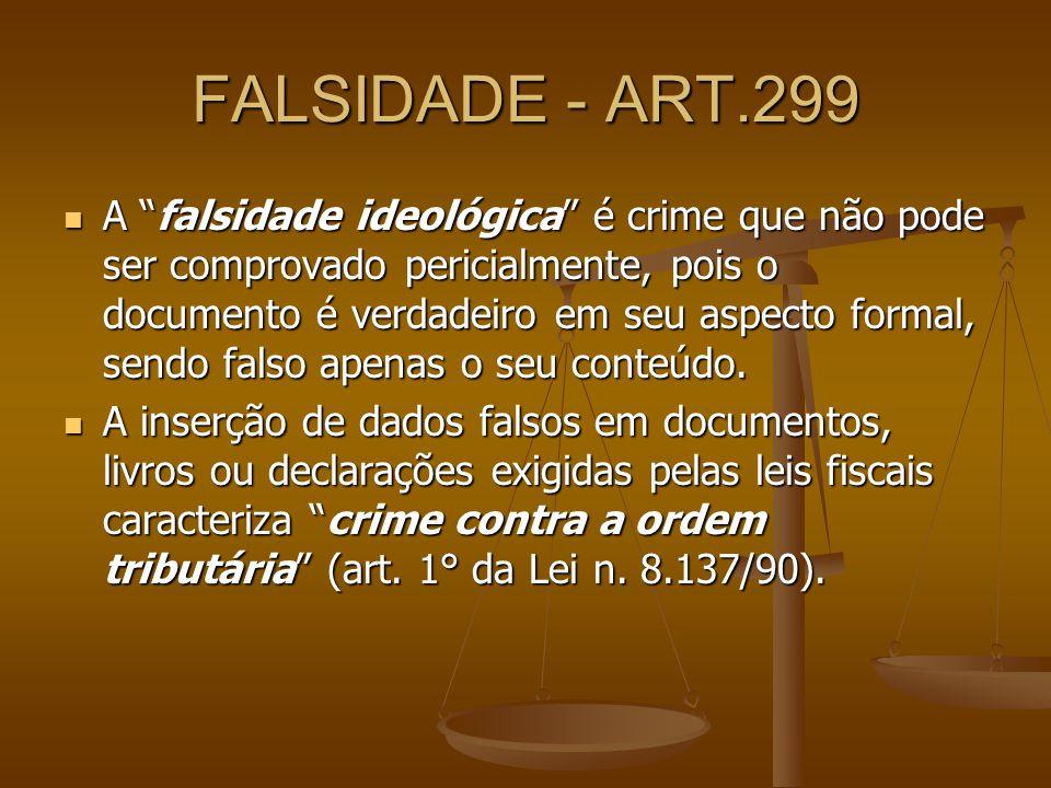 FALSIDADE - ART.299