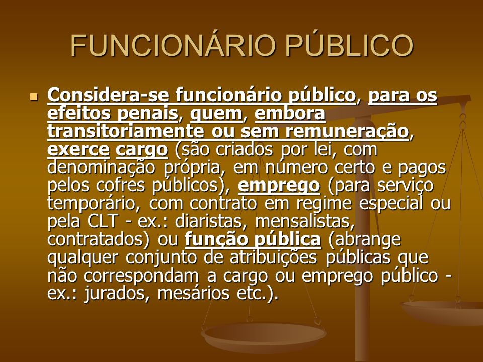 FUNCIONÁRIO PÚBLICO
