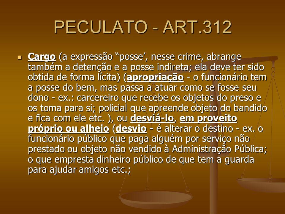 PECULATO - ART.312