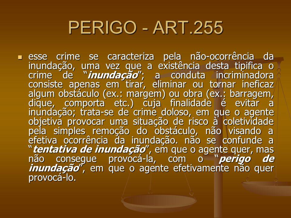 PERIGO - ART.255