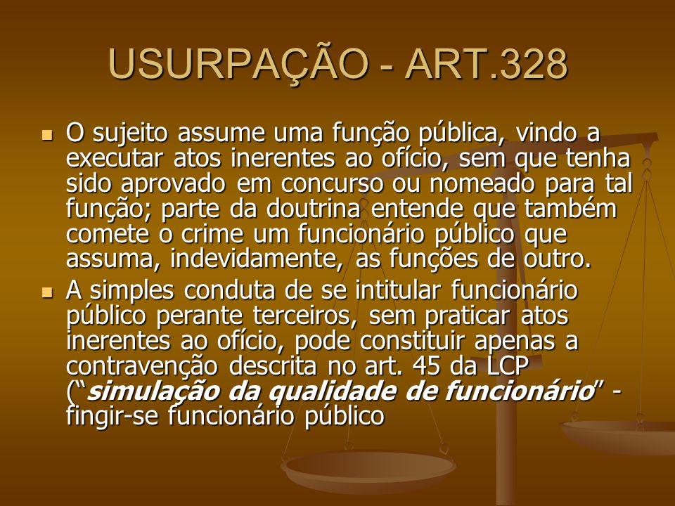 USURPAÇÃO - ART.328