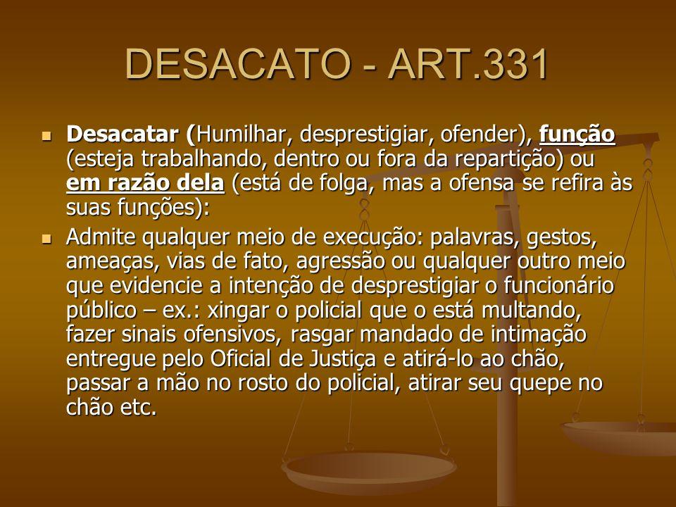 DESACATO - ART.331