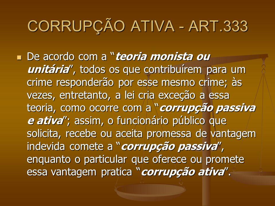 CORRUPÇÃO ATIVA - ART.333