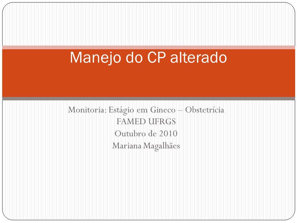 Monitoria: Estágio em Gineco – Obstetrícia
