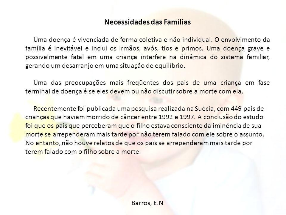 Necessidades das Famílias