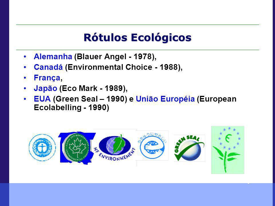 Rótulos Ecológicos Alemanha (Blauer Angel - 1978),