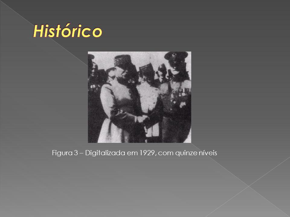 Histórico Figura 3 – Digitalizada em 1929, com quinze níveis