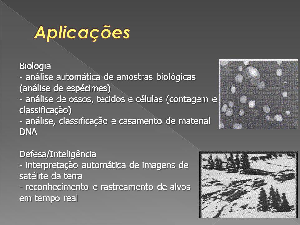 Aplicações Biologia. - análise automática de amostras biológicas (análise de espécimes)