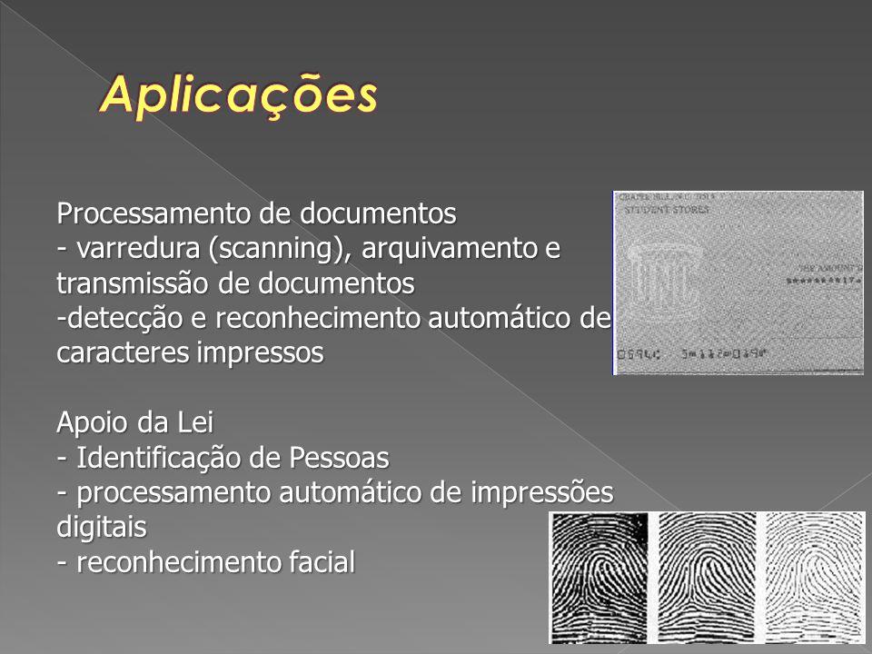 Aplicações Processamento de documentos