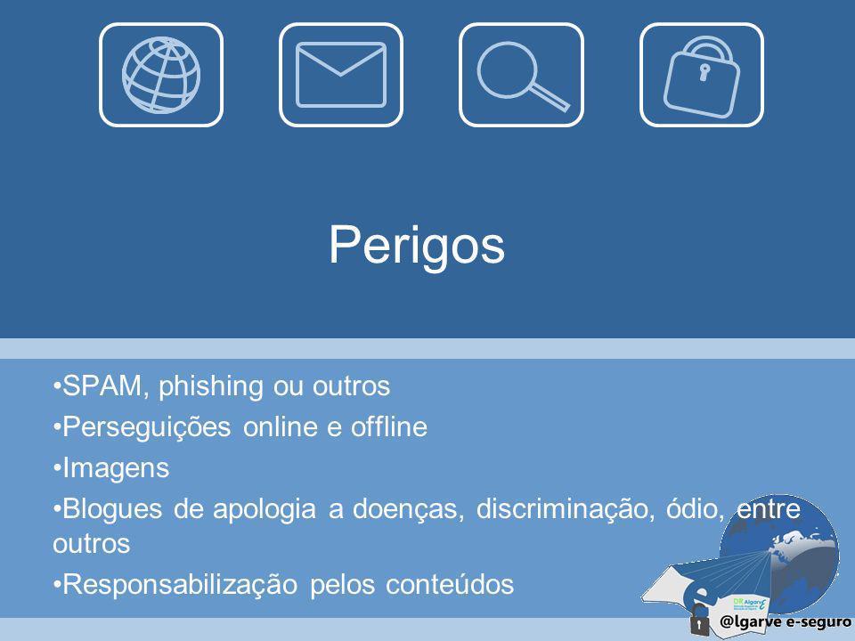Perigos SPAM, phishing ou outros Perseguições online e offline Imagens