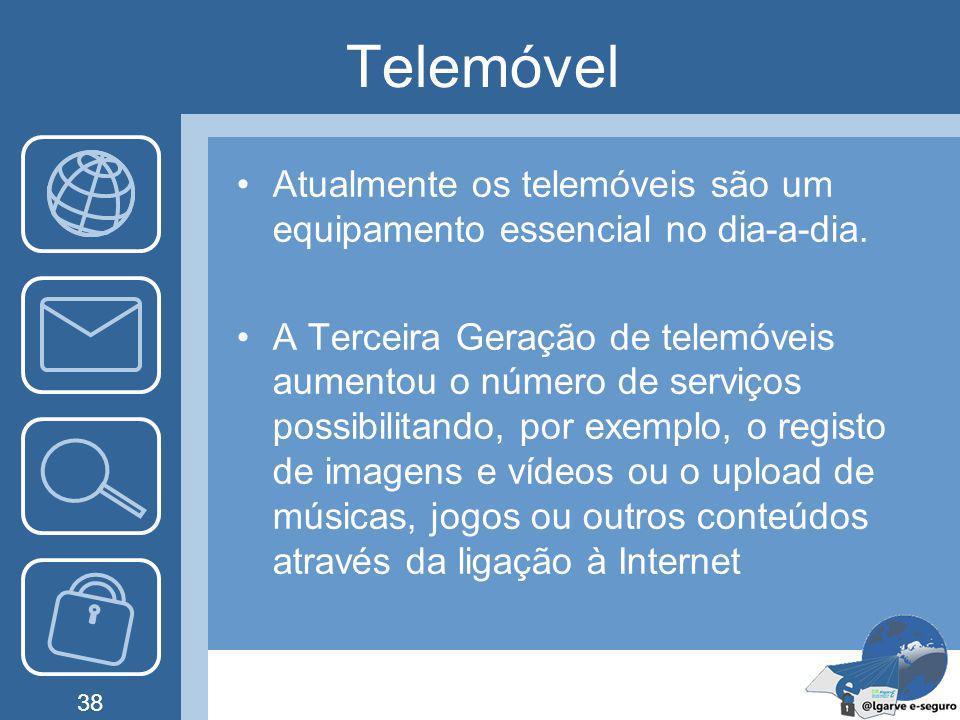 Telemóvel Atualmente os telemóveis são um equipamento essencial no dia-a-dia.